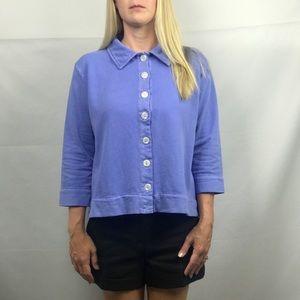 NWT Fresh Produce Women's Purple Blouse Size Small